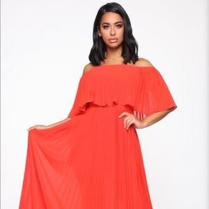 Match in Heaven Pleated Maxi Dress size1x